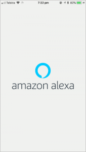 Screenshot of Amazon Alexa loading screen on iOS device