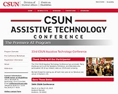CSUN 2018 home page