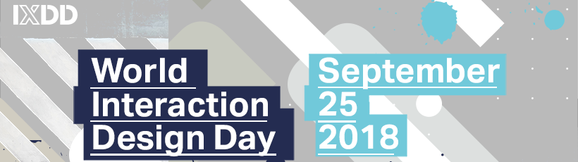 World Interaction Design Day banner with logo and date
