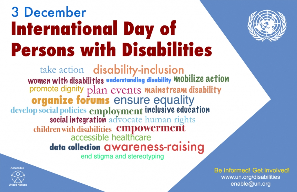 UN poster for IDPWD